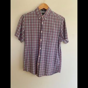 Chaps Sun Drenched Short Sleeve Throw Back Casual